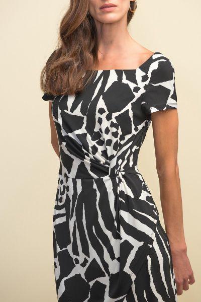 Joseph Ribkoff Vanilla/Black Dress Style 211397