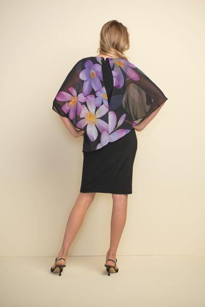 Joseph Ribkoff Black/Purple Multi Dress Style 211408