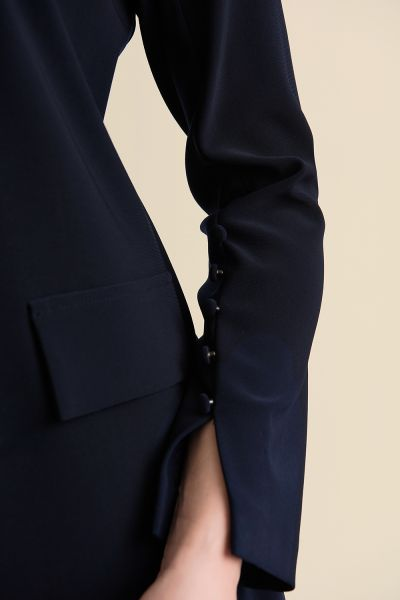 Joseph Ribkoff Midnight Blue Long Blazer Style 211410