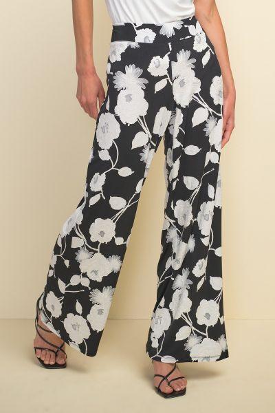 Joseph Ribkoff Black/Vanilla/Grey Pant Style 211419