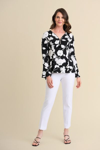 Joseph Ribkoff Black/Vanilla/Grey Top Style 211424