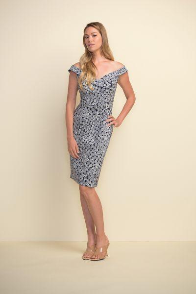 Joseph Ribkoff Navy/White Dress Style 211442