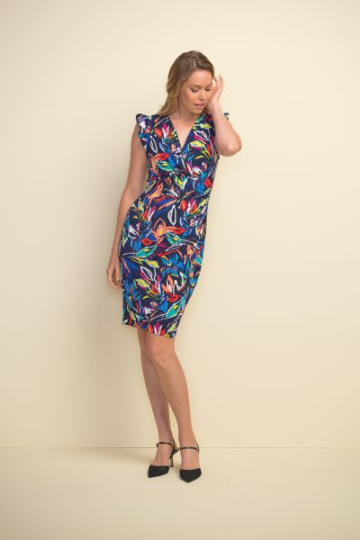 Joseph Ribkoff Midnight/Multi Dress Style 211457
