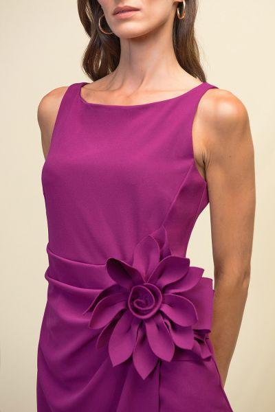 Joseph Ribkoff Orchid Flower Adornment Dress Style 211469