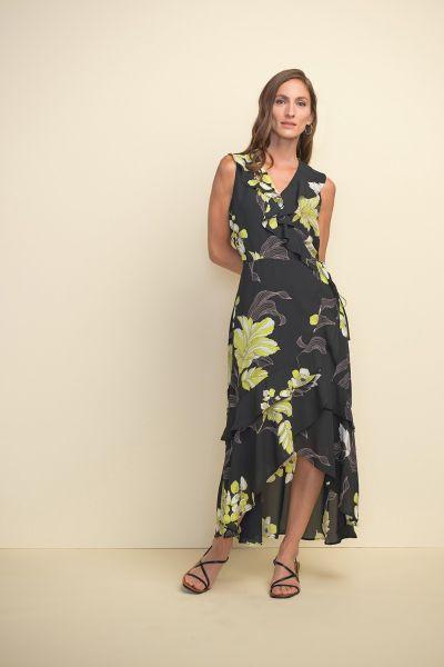 Joseph Ribkoff Black/Multi Dress Style 211483
