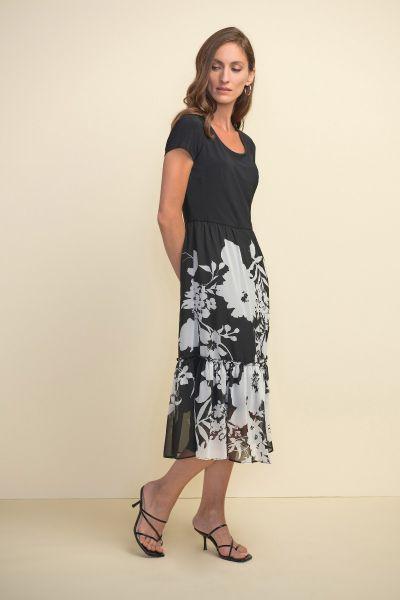Joseph Ribkoff Black/Multi Dress Style 211485