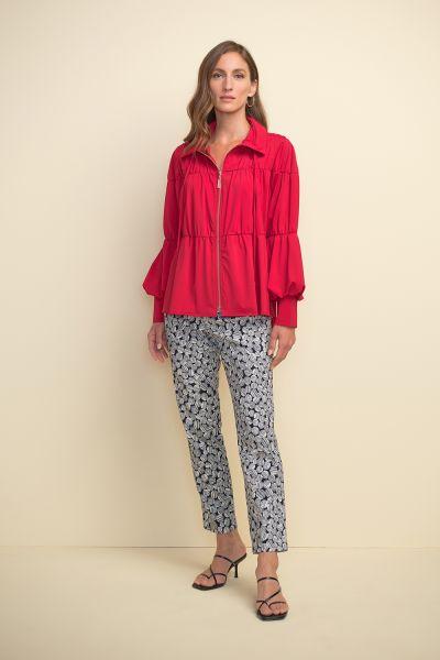 Joseph Ribkoff Lipstick Red Puff Sleeve Jacket Style 211904