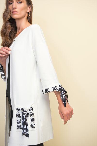 Joseph Ribkoff Vanilla Printed Detail Long Jacket Style 211934