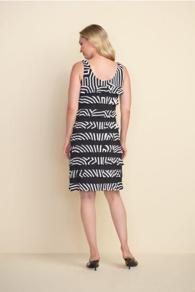 Joseph Ribkoff Black/Vanilla Dress Style 212044