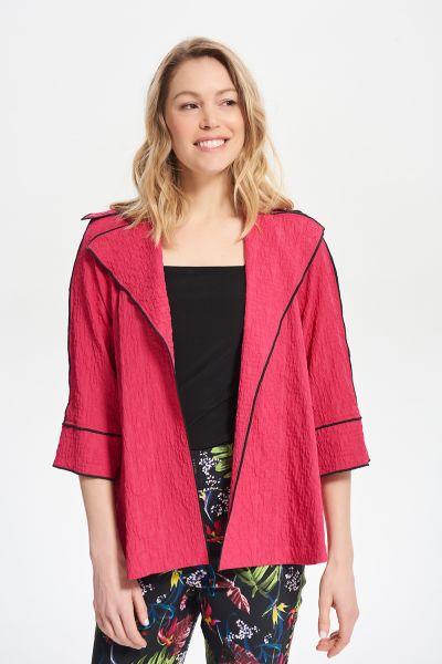 Joseph Ribkoff Fuchsia Constrast Trim Jacket Style 212045