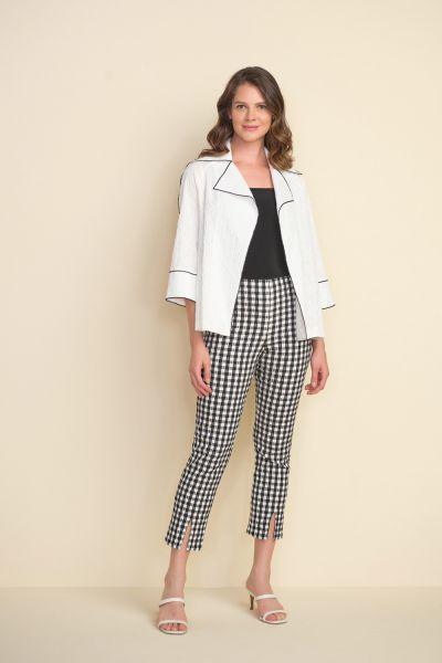 Joseph Ribkoff White Constrast Trim Jacket Style 212045