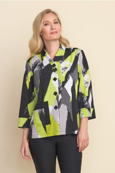 Joseph Ribkoff Black/Limelight Jacket Style 212089