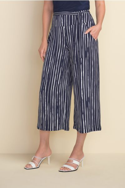 Joseph Ribkoff Midnight/White Pant Style 212102