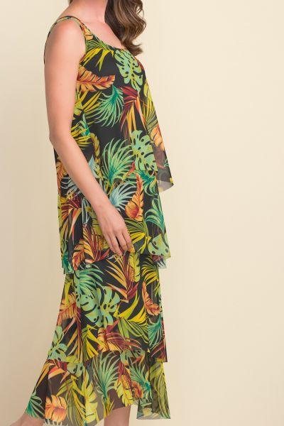 Joseph Ribkoff Black/Multi Tropical Maxi Dress Style 212117