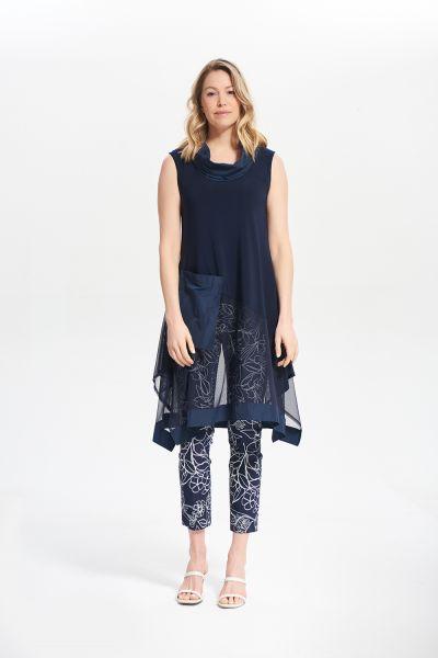 Joseph Ribkoff Midnight Blue Sleeveless Mock Neck Top  Style 212133
