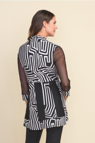 Joseph Ribkoff Black/Vanilla Jacket Style 212134
