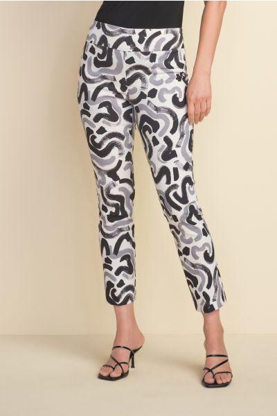Joseph Ribkoff White/Grey/Black Pant Style 212140