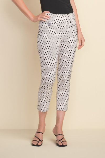 Joseph Ribkoff Beige/White/Black Pants Style 212141