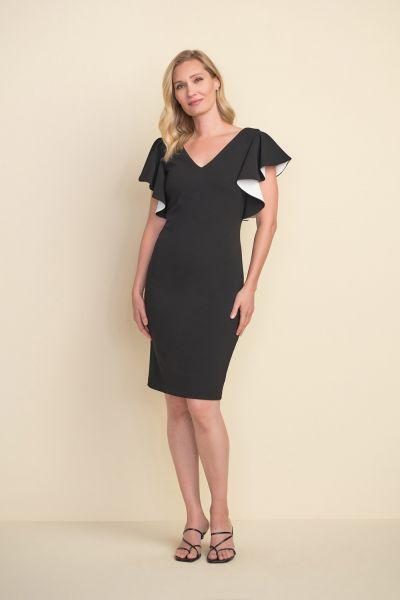 Joseph Ribkoff Black/Vanilla Dress Style 212146
