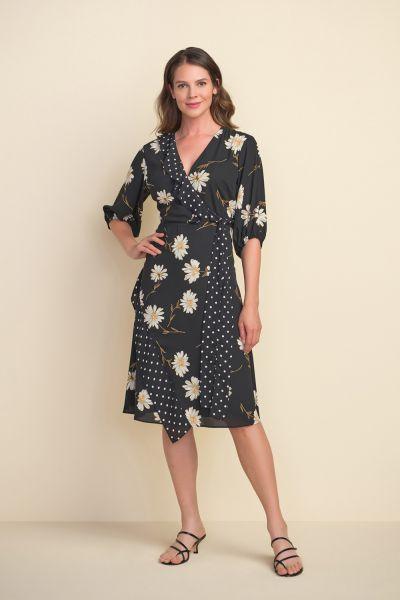 Joseph Ribkoff Multi Floral & Polka Dot Dress Style 212149