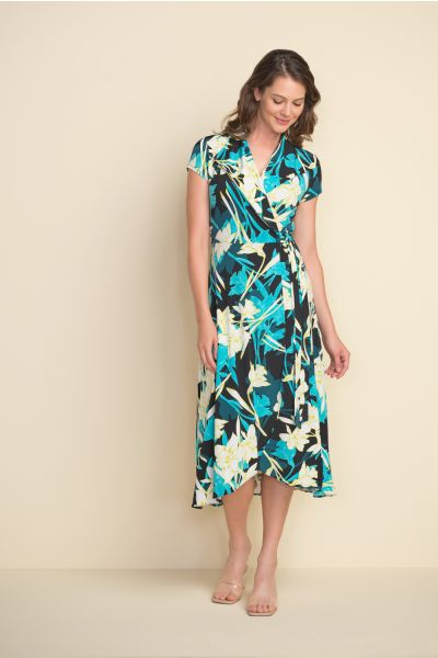 Joseph Ribkoff Black/Multi Dress Style 212151