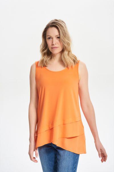 Joseph Ribkoff Tangerine Sleeveless Tiered Cami Style 212157