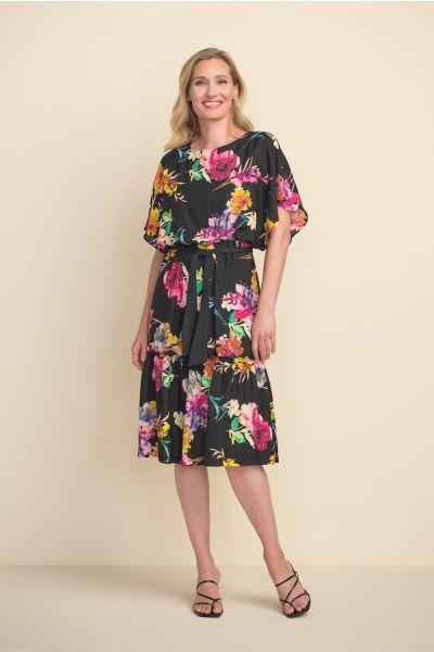 Joseph Ribkoff Black/Multi Dress Style 212159