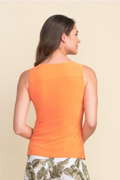 Joseph Ribkoff Tangerine Ring Accent Sleeveless Top Style 212166