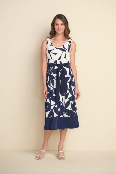 Joseph Ribkoff Midnight Blue/Vanilla Dress Style 212168