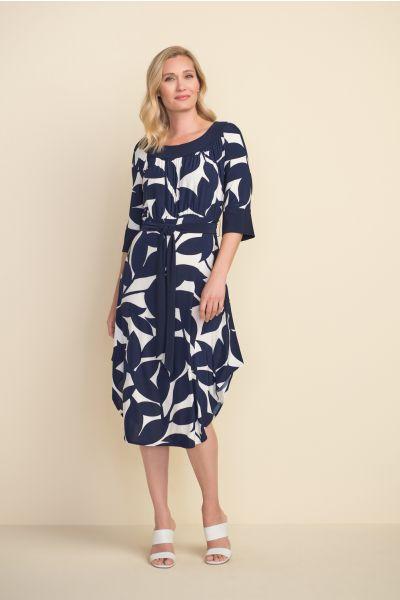 Joseph Ribkoff Navy/Off White Dress Style 212201