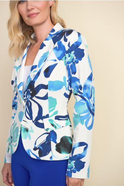 Joseph Ribkoff Vanilla/Multi Blazer Style 212206