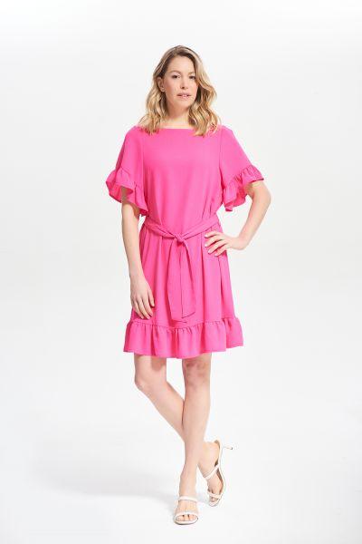 Joseph Ribkoff Azalea Ruffle Sleeve Dress Style 212217