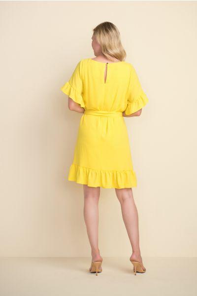 Joseph Ribkoff Lemon Ruffle Sleeve Dress  Style 212217