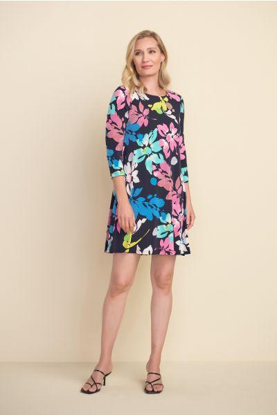 Joseph Ribkoff Midnight Blue/Multi Dress Style 212219