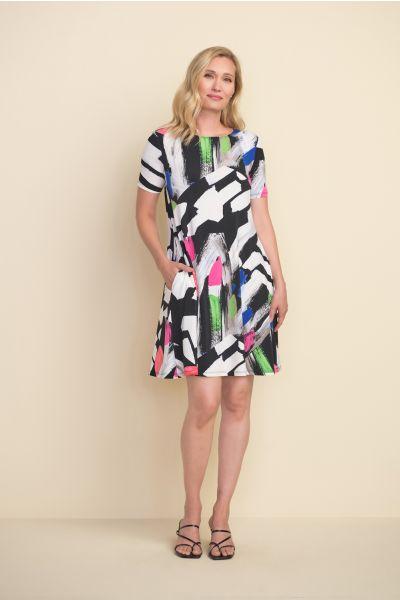 Joseph Ribkoff Black/White/Multi Dress Style 212224