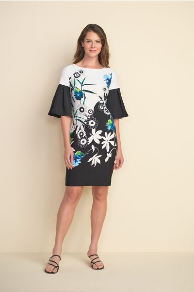 Joseph Ribkoff Black/Multi Dress Style 212230