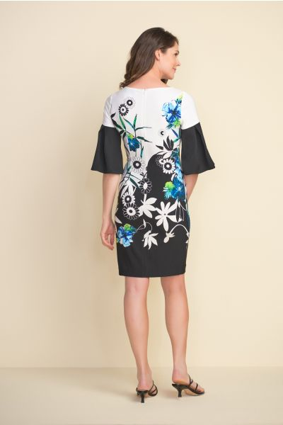 Joseph Ribkoff Black/Multi Dress Style 212230