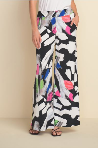 Joseph Ribkoff Black/White/Multi Pant Style 212246