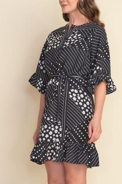 Joseph Ribkoff Black/White Dress Style 212249