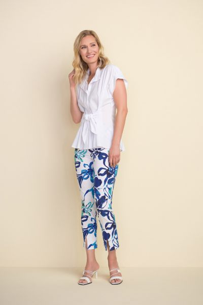 Joseph Ribkoff Vanilla Printed Flared Pants Style 212263