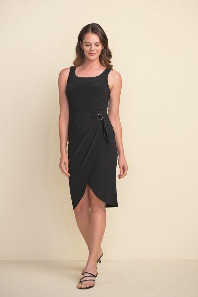 Joseph Ribkoff Black Sleeveless Dress Style 212265