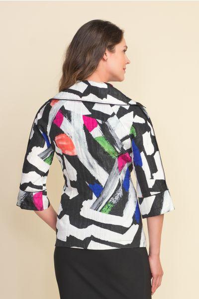 Joseph Ribkoff Black/White/Multi Jacket Style 212267