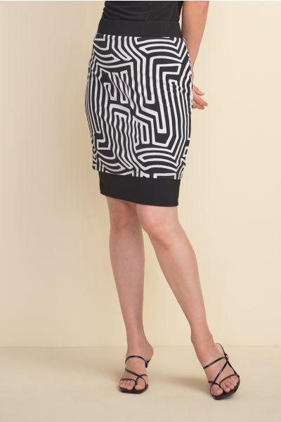 Joseph Ribkoff Black/Vanilla Skirt Style 212271