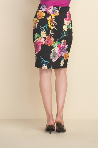 Joseph Ribkoff Black/Multi Skirt Style 212273
