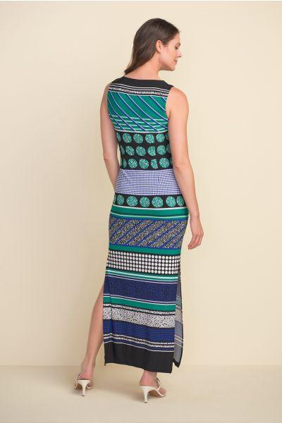 Joseph Ribkoff Green/Blue/Black Dress Style 212276