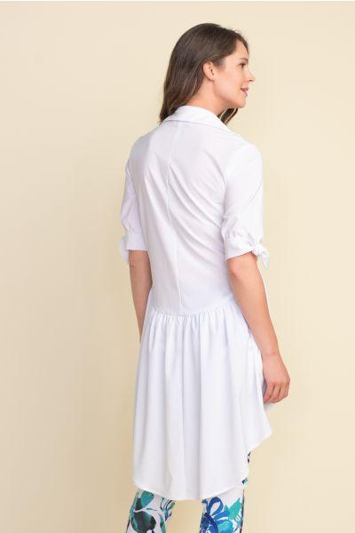 Joseph Ribkoff Button-Up Optic White Tunic Style 212285