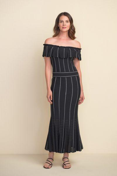 Joseph Ribkoff Black/Vanilla Dress Style 212919