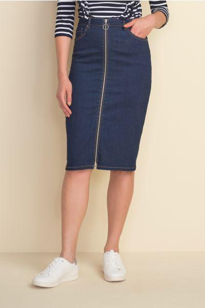 Joseph Ribkoff Indigo Denim Skirt Style 212925