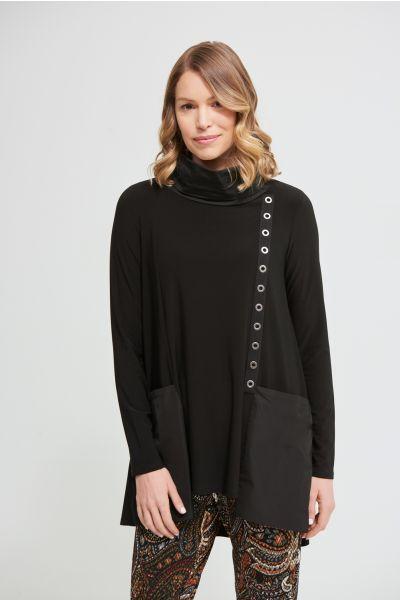 Joseph Ribkoff Black Cowl Neck Tunic Style 213033