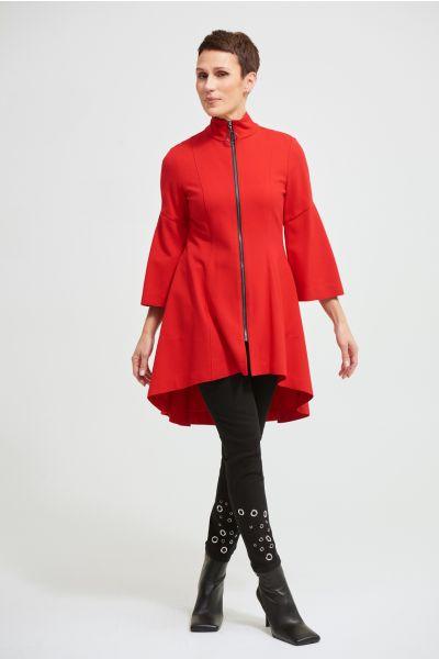 Joseph Ribkoff Lipstick Red High-low Jacket Style 213044